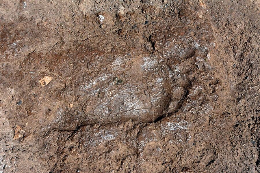 3000 year old footprint found in historic Armenia