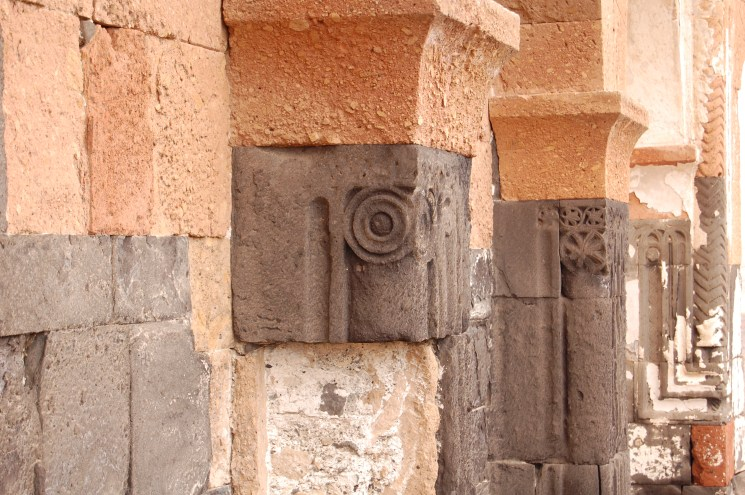 Wall decorations of Armenian city of Ani