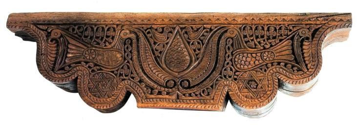 Wooden chapiter, 9th century, Astvatsamayr church of Araqeloc monastery, Sevan, History museum of Armenia