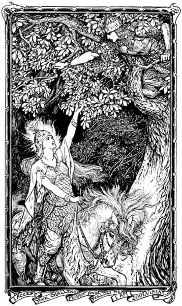 Illustration from The Olive Fairy Book by Andrew Lang