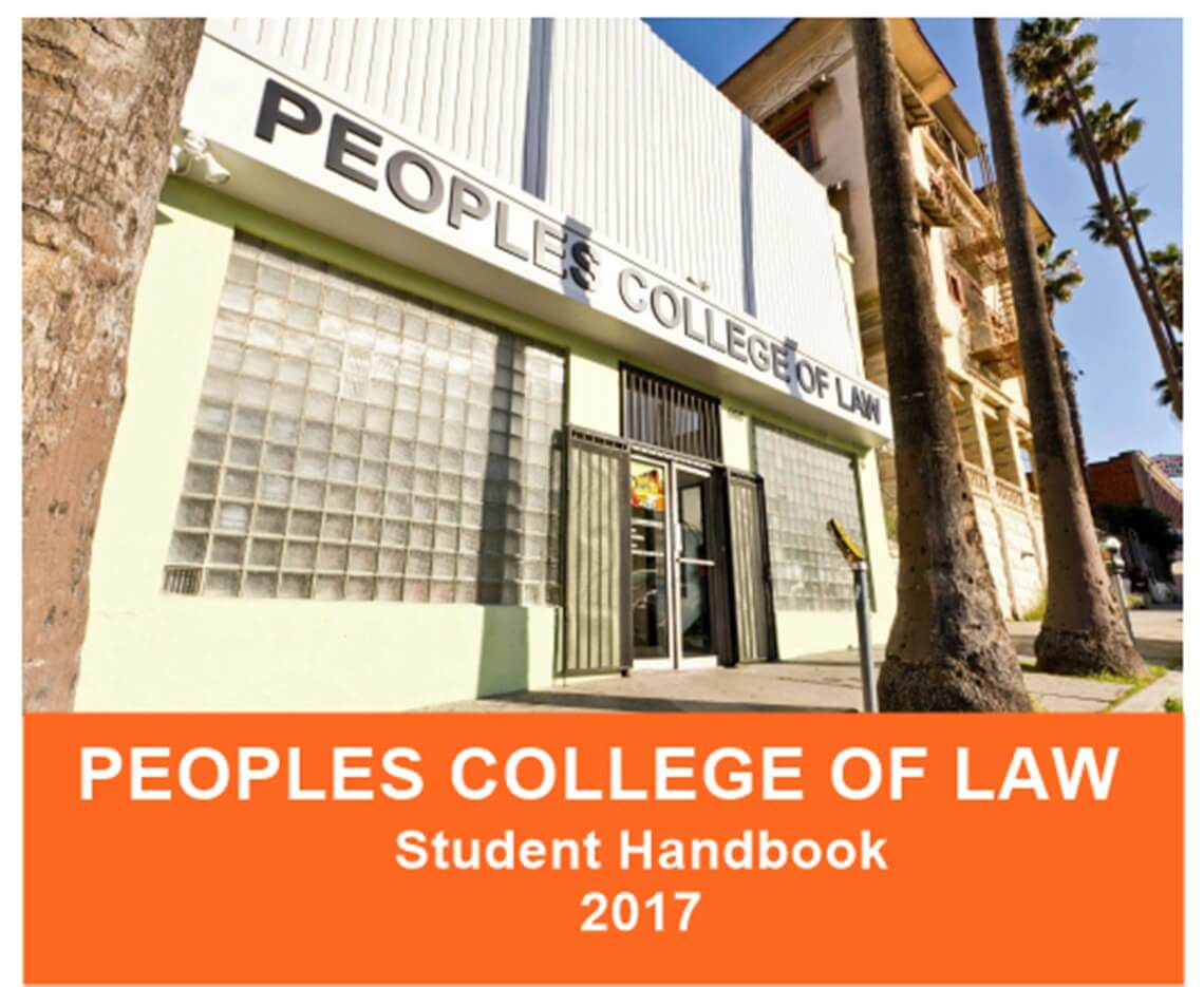 Peoples College of Law Student Handbook