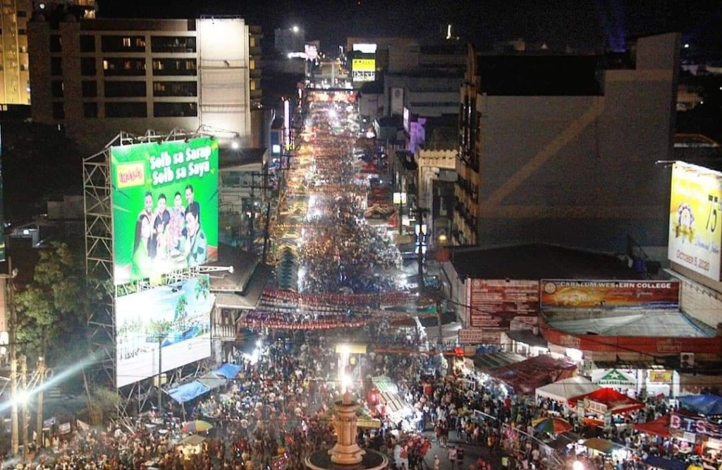 The Dinagyang Festival crowd