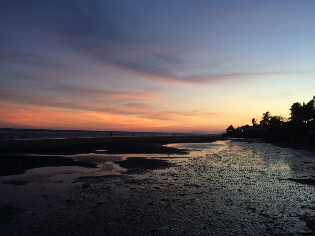Villa beach blue sunset