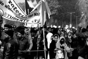 Aligarh Muslim University (AMU) students rally demanding - Find Najeeb, Aligarh Uttar Pradesh
