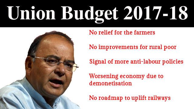Arun Jaitley's Union Budget 2017-18