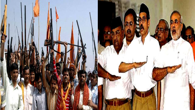 RSS armed rally during Ram Navami in West Bengal