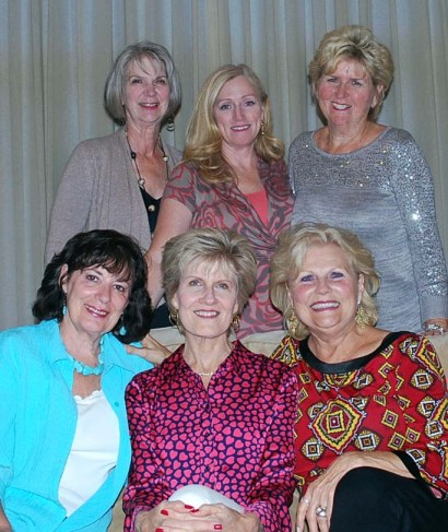 Back row, left to right: Susan Williams, Treasurer; Debbi Knight, Vice President; Sharon Price, Vice President of Events. Front row: Marlene Klamt, Secretary; Vickie Baehner, President; Linda Johansen, President Emeritus.