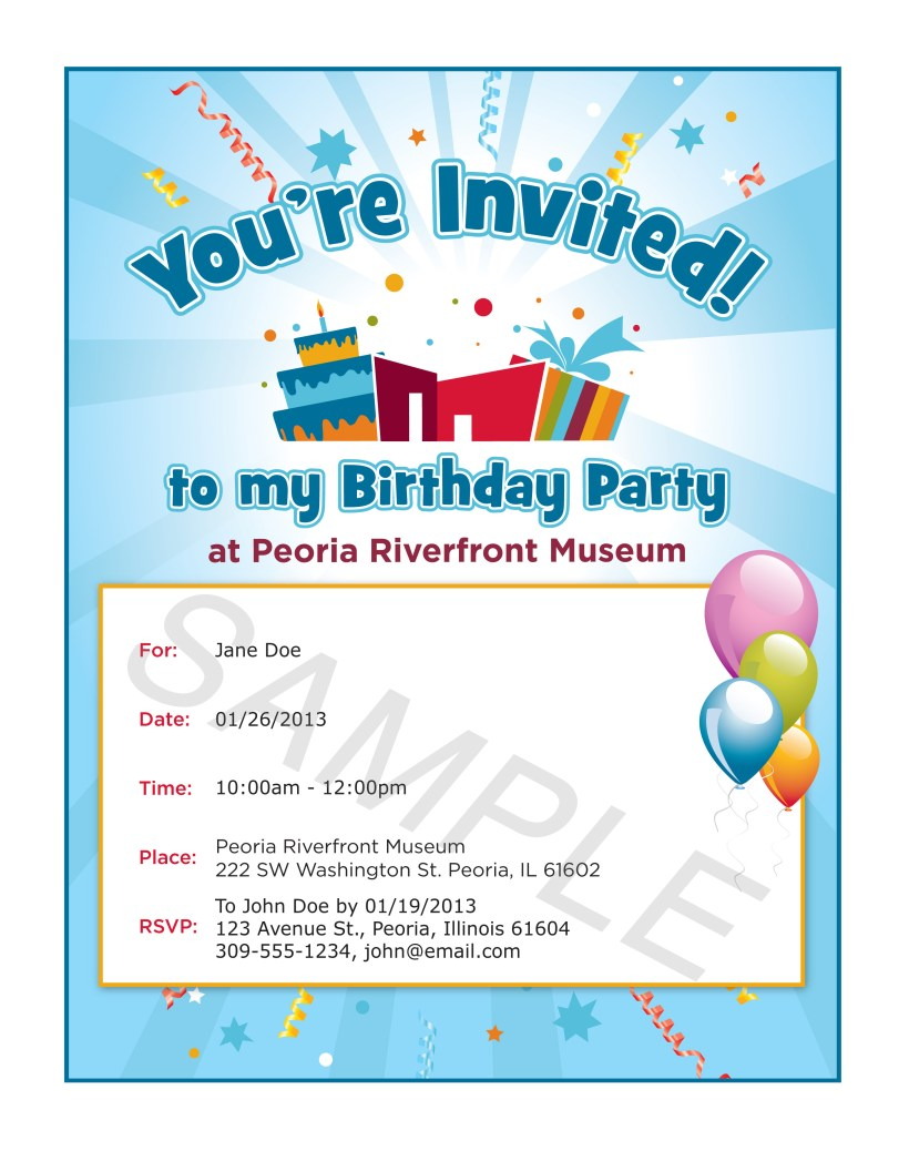 Party Invitations Samples