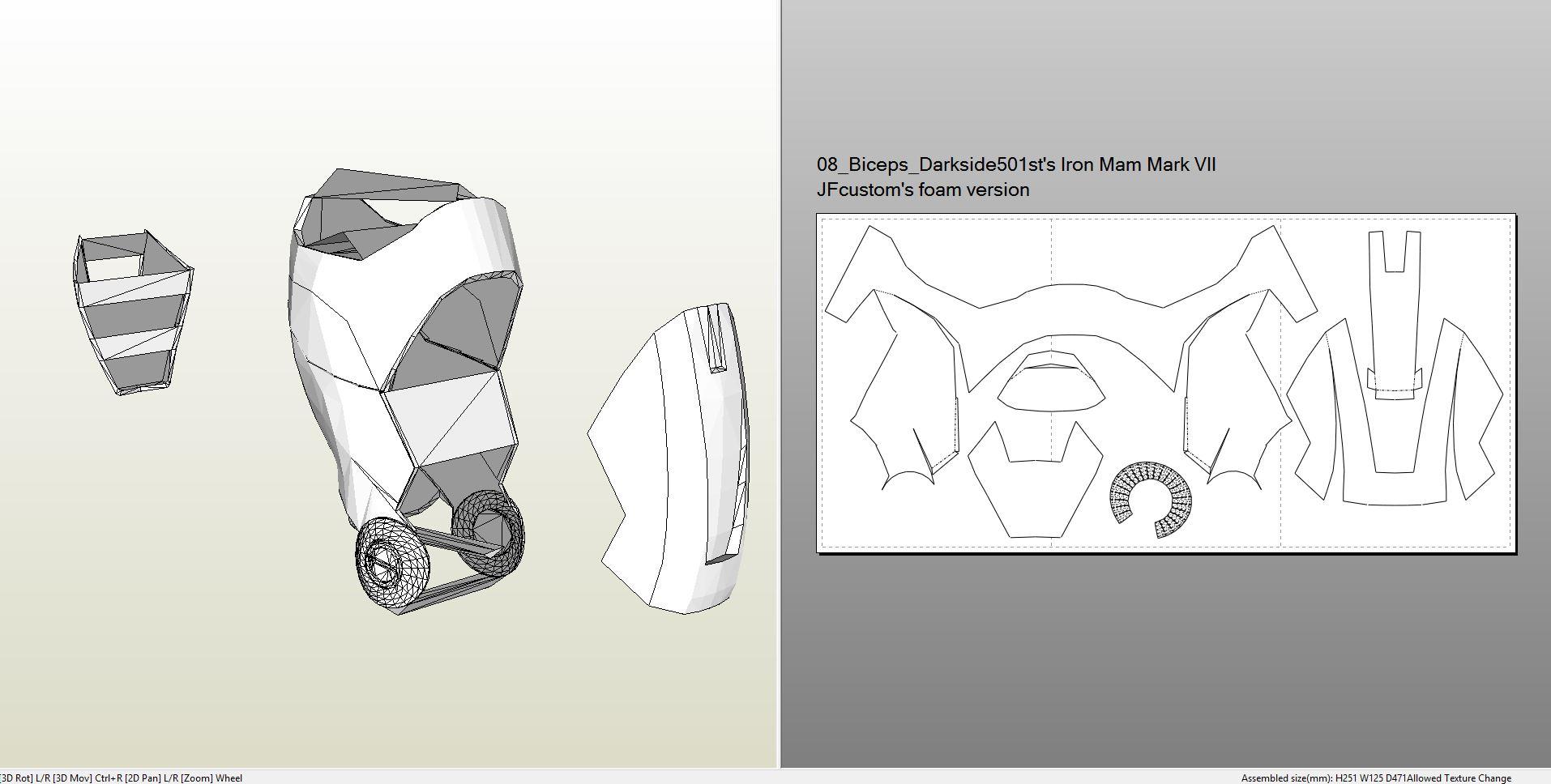Foamcraft Pdo File Template For Iron Man Mark 7 Full