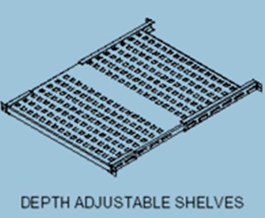 depth adjustable shelves