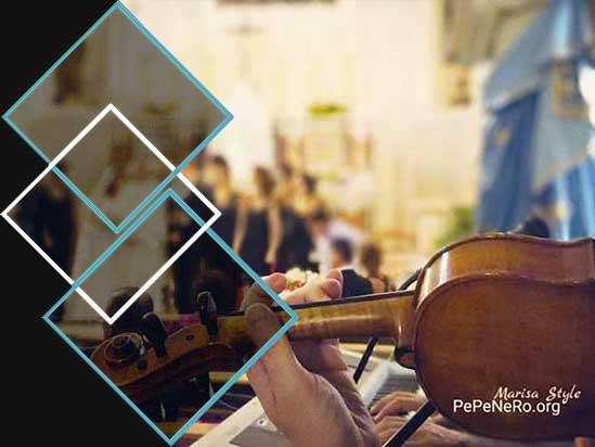 Trio PePeNeRo con violino in chiesa per matrimonio