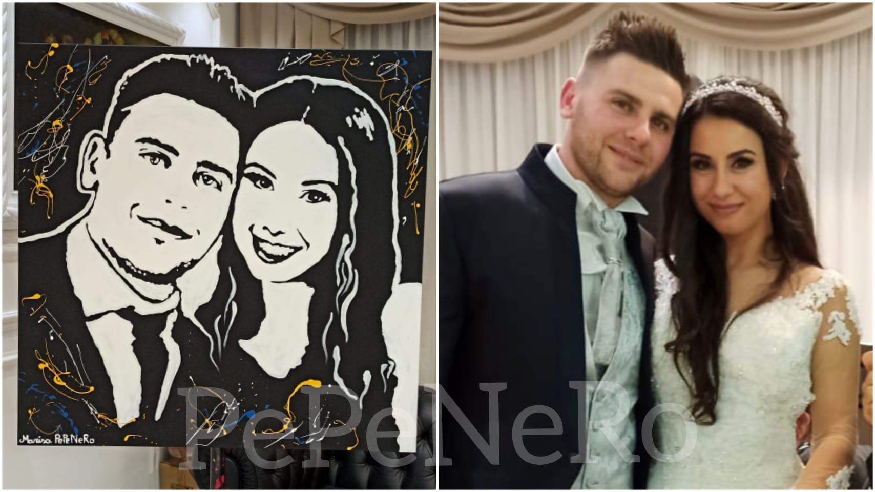 quadro pop-art per gli sposi