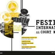 Bannière officielle de la 20eme édition du Festival International du Court Métrage de Lille