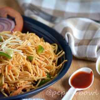 Easy Spicy Szechuan Noodles Recipe – Indo Chinese Vegetarian Recipe