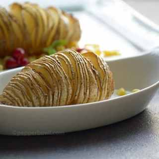 Hasselback potato recipe-Baked