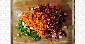 Cranberry Carrot Salad, steps and procedures