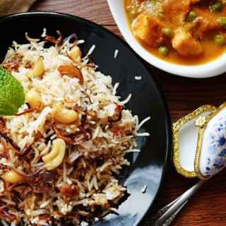 Hyderabadi Bagara Rice-Simplified version of Biryani
