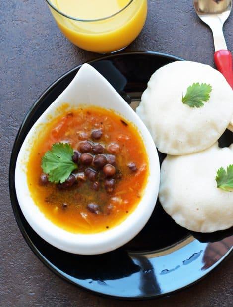 Kondakadalai Thakali Chutney-Chenna Tomato Side Dish