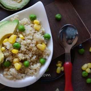 Quinoa Salad with Corn , Peas, Avacado