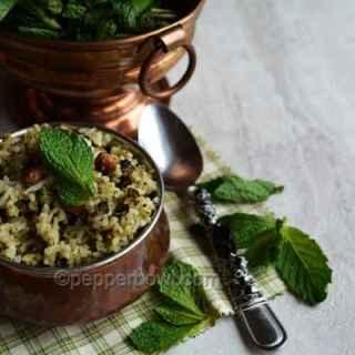 Easy Pudina Rice Recipe – Mint Pulav