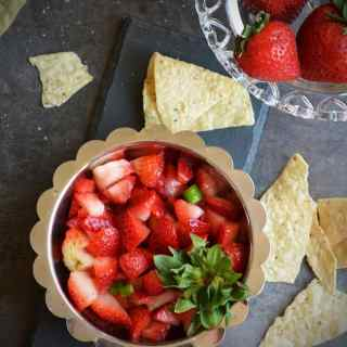 Healthy Strawberry Salad Recipe with Lemon & Chilies