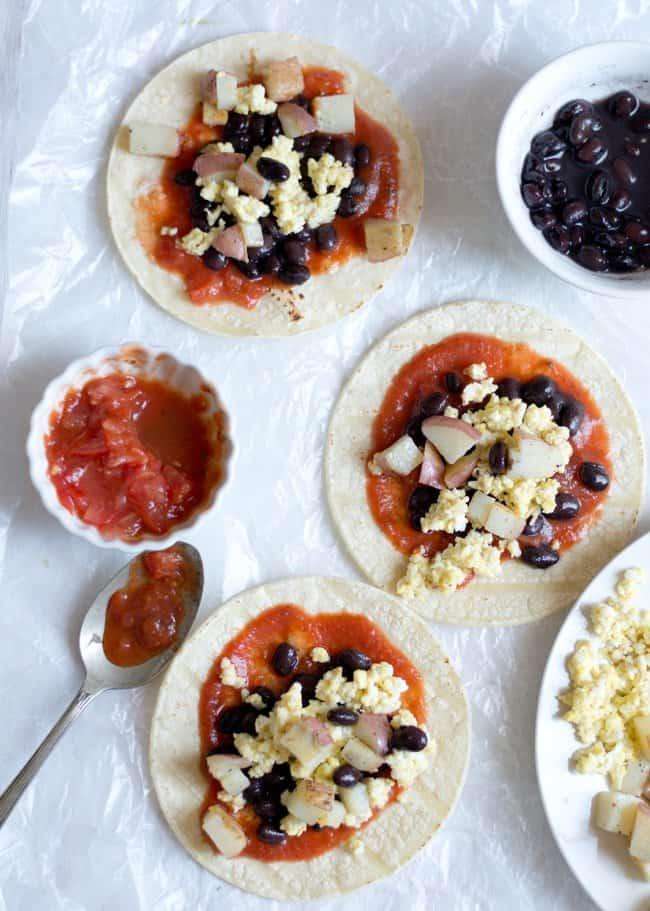 Easy Taco Breakfast with Black Bean