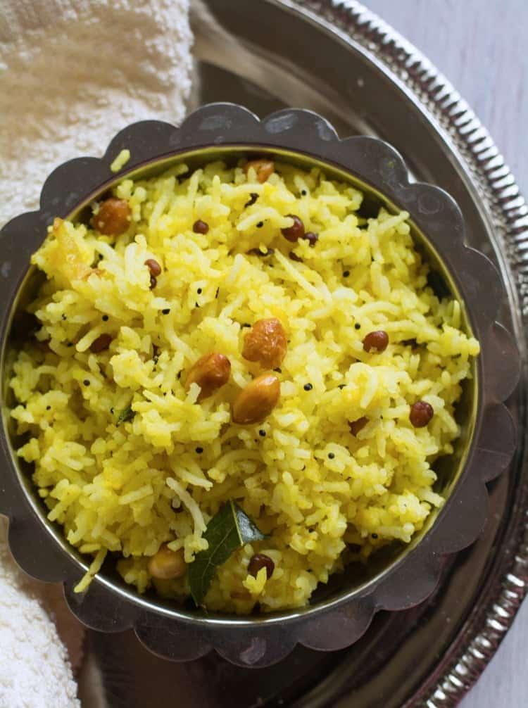Easy Chitranna Rice Recipe - karnataka's popular dish
