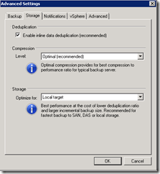 Veeam back-up wizard advanced settings 2