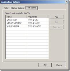 Veeam SureBackup Application verification options