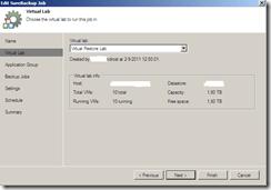 Veeam SureBackup Job settings virtual lab