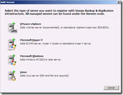 Veeam Backup & replication add vCenter