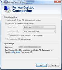 Remtoe Desktop Connection | RD Gateway Server Settings