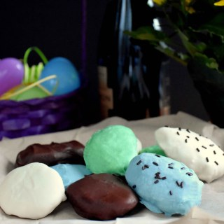 Easter Eggs with Sparkling Wine