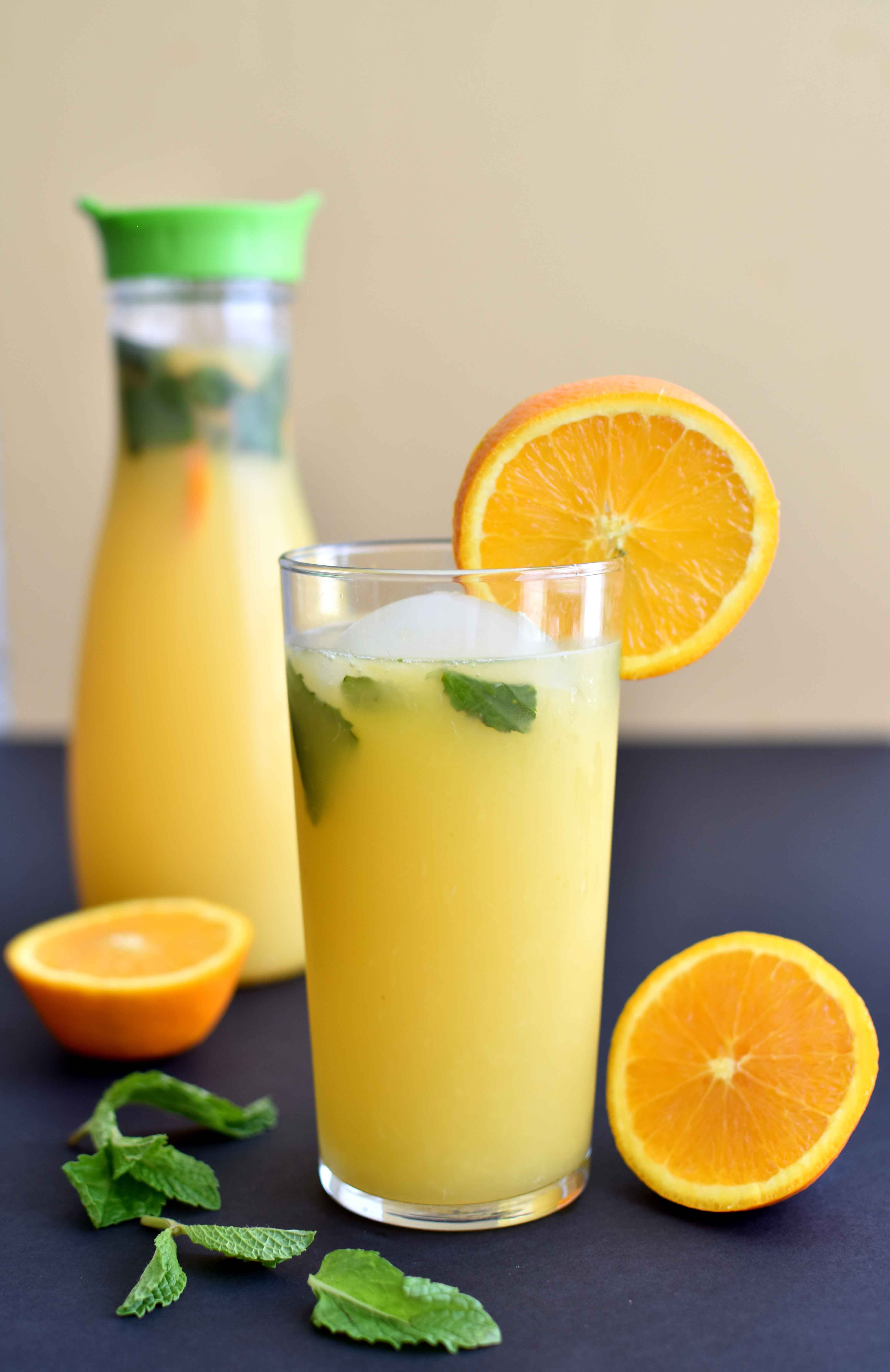 Orange Mint Mocktail - Pepper Delight #recipe #mocktail #drink