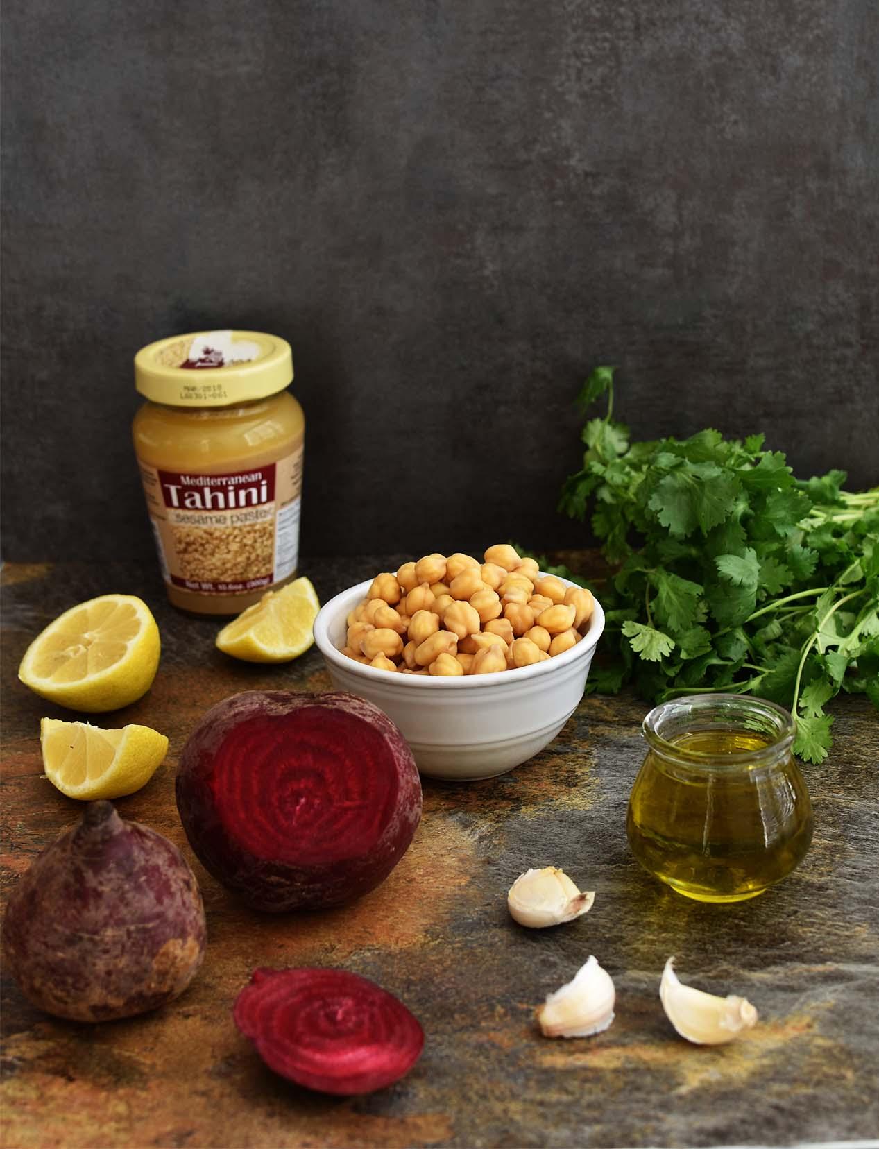 Beetroot Hummus - Pepper Delight #pepperdelightblog #recipe #hummus #beetroot #dip #chickpeas #vegeterian #christmasrecipes #appetizer #mediterranean #spread #thanksgiving #newyear #gameday #meatless