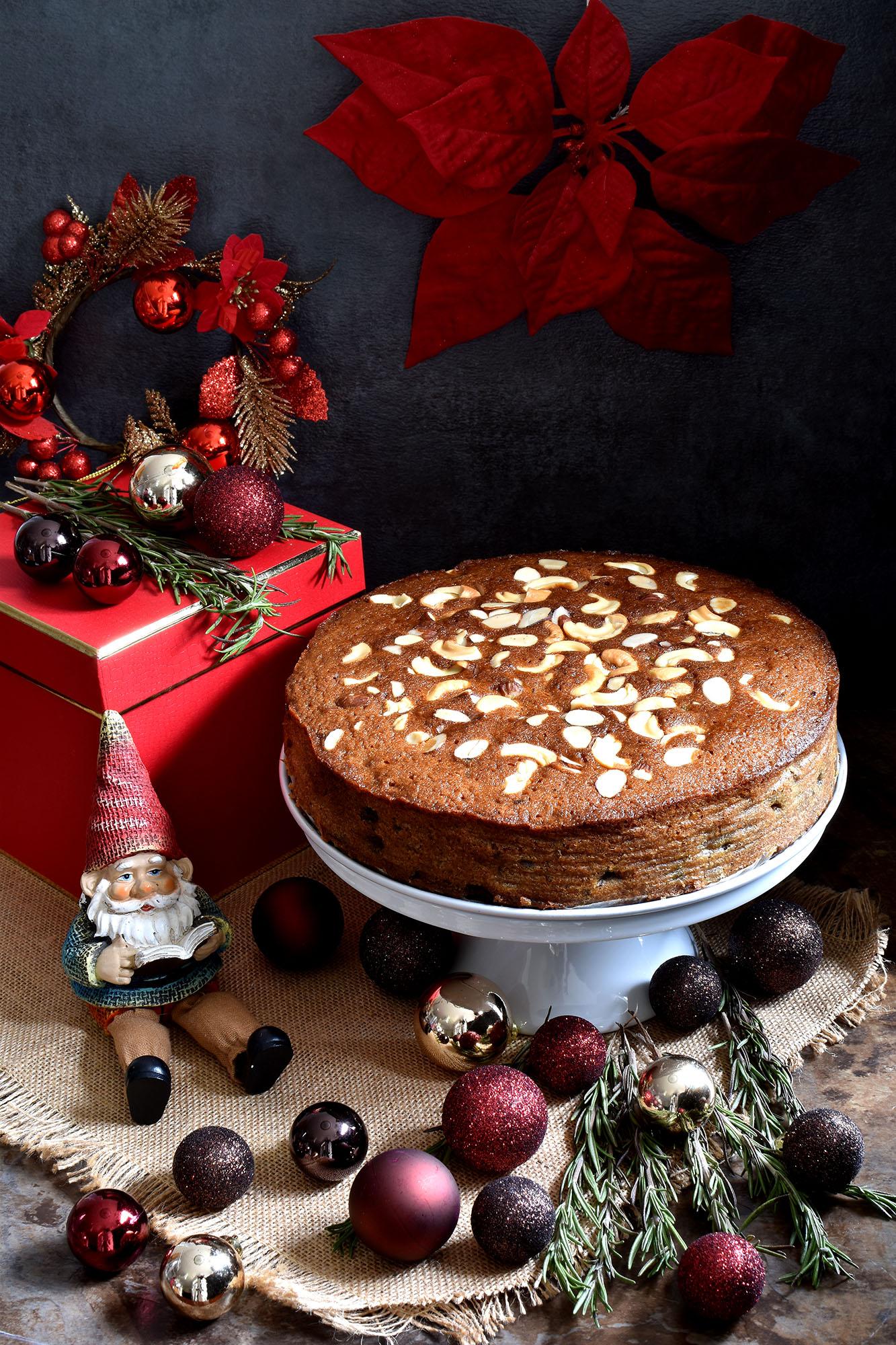Christmas Fruit Cake.Christmas Fruit Cake Non Alcoholic