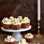 Carrot Cupcakes with Cream Cheese Frosting - Pepper Delight #recipe #cake #thanksgiving #newyear #carrotcake #cupcake #carrotcupcake #christmas #holidayrecipes #easter #party #festivals #creamcheese #eastereggs