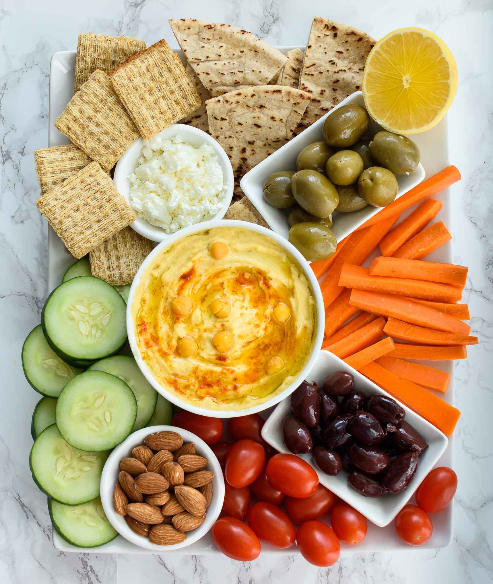 Hummus Platter Pepper Delight