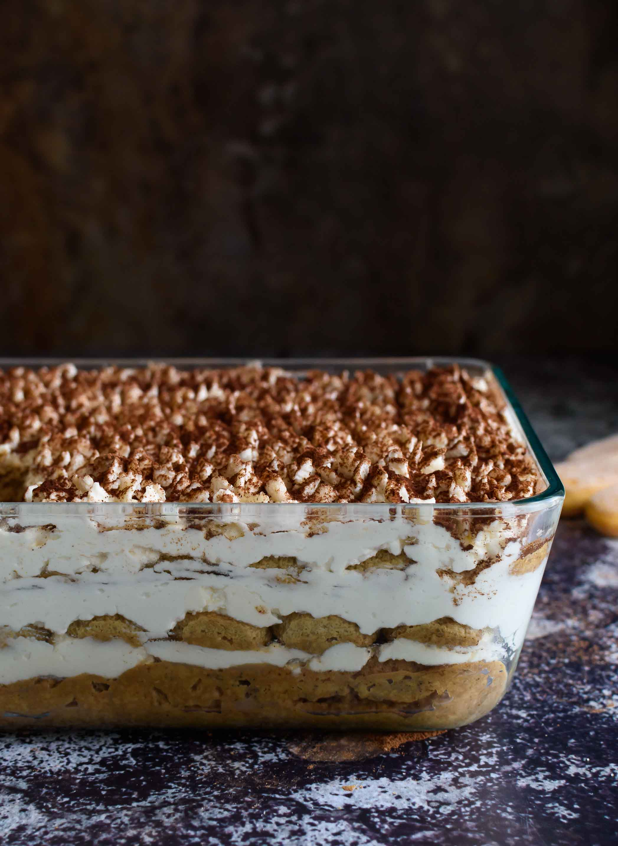 Easy No-Cook Eggless Tiramisu- Pepper Delight #pepperdelightblog #recipe #tiramisu #egglesstiramisu #dessert #italiandessert #celebrationrecipes #partyrecipes #makeaheadrecipes #baileysdessert #valentinesdayrecipes
