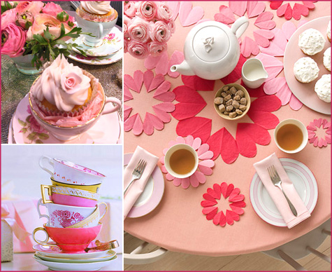 Cupcake Tea Party DIY Handmade Pink Red