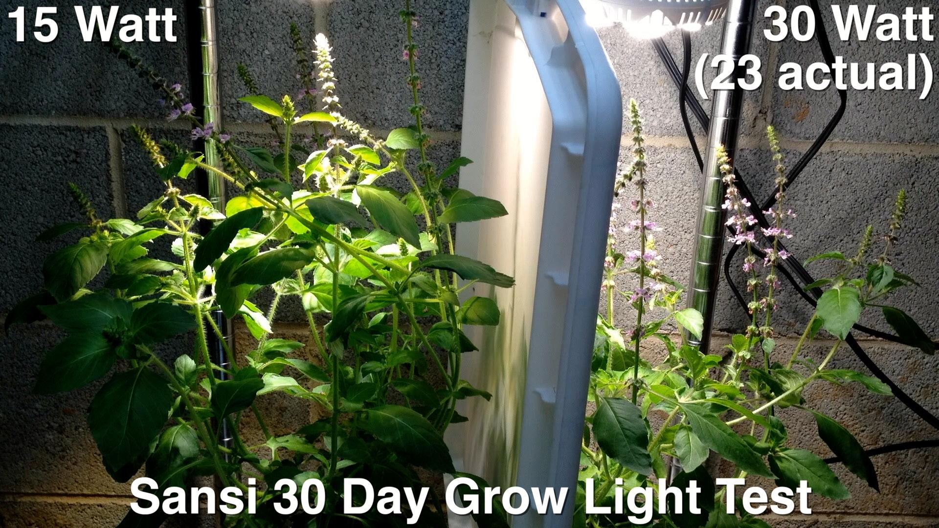30 Day Update On Sansi Led Grow Light Comparison Pepper Info