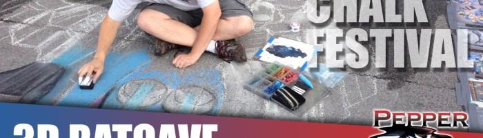 Video: 3D Chalk Art Batman and Batcave at the Sweet Chalk Festival
