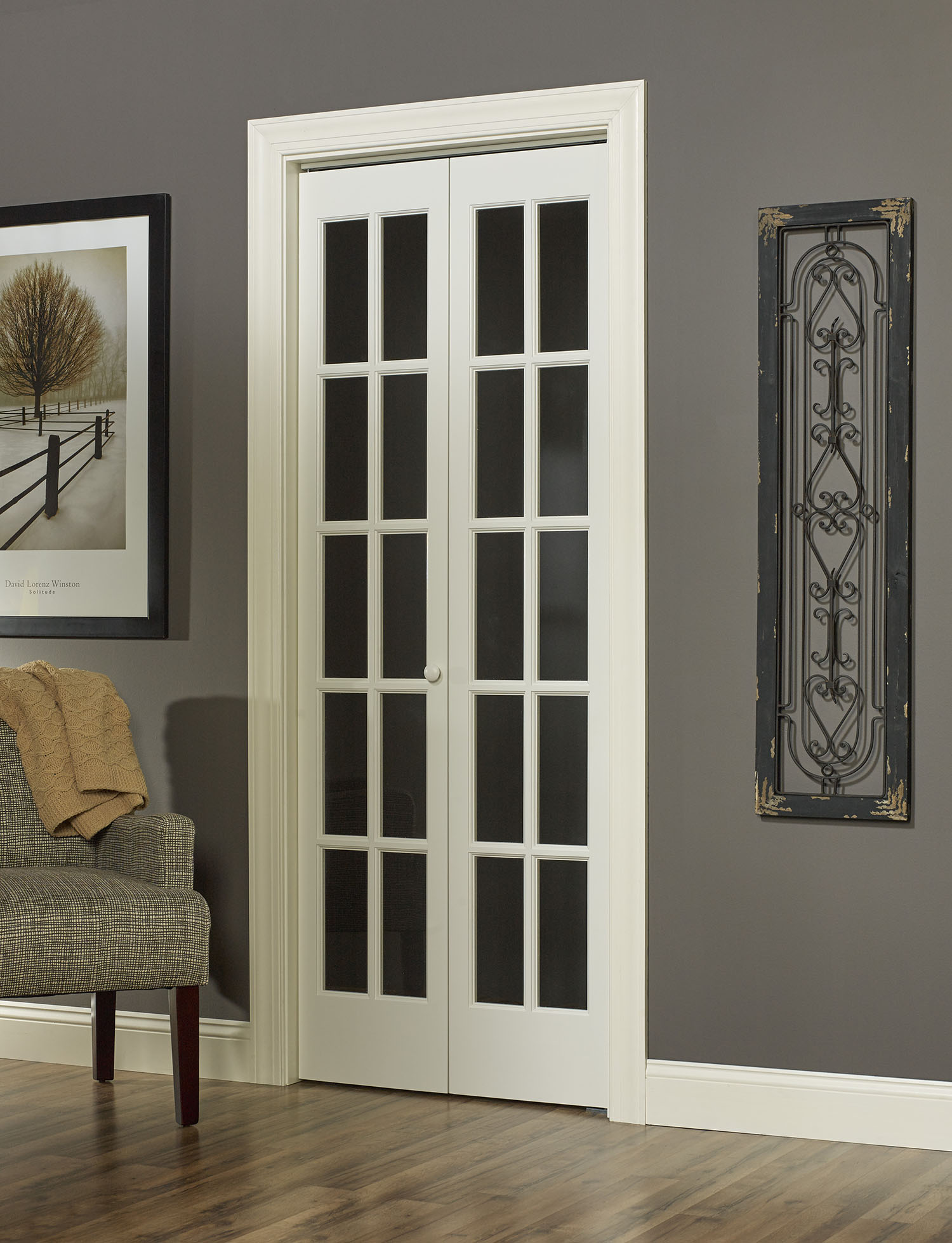 Traditional Divided Glass Bifold Door With True Lite