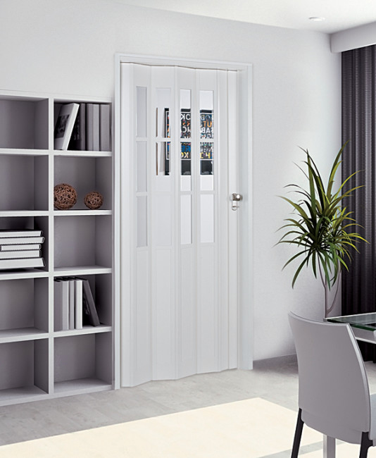 Capri Modern Accordion Folding Door With Snap Lock Closure