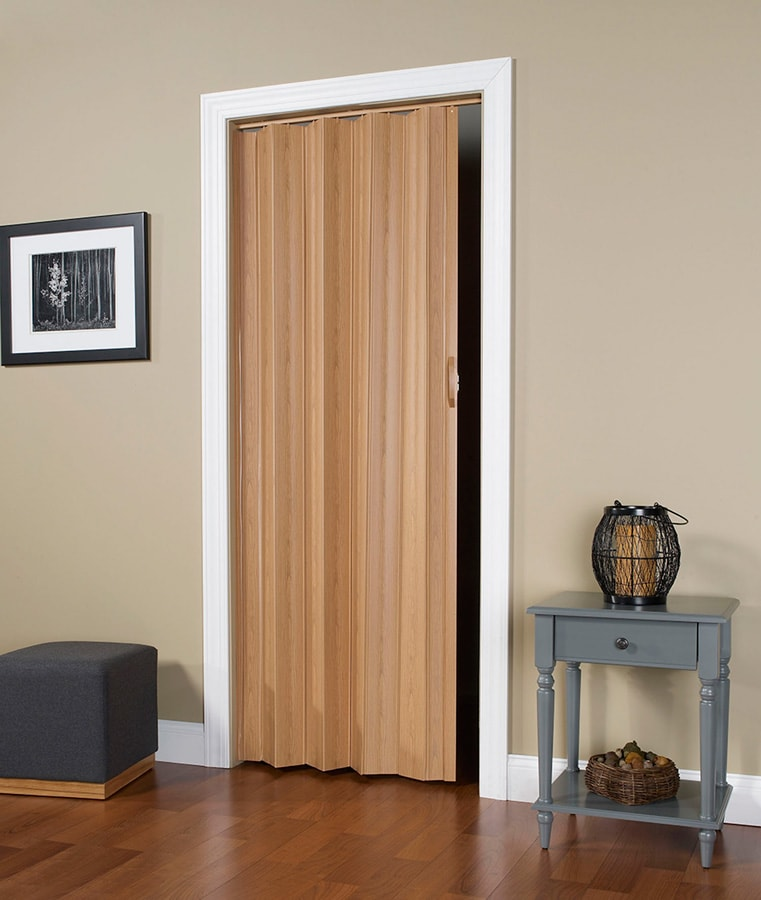 Via Accordian Folding Door With Flexible Solid Vinyl Hinges