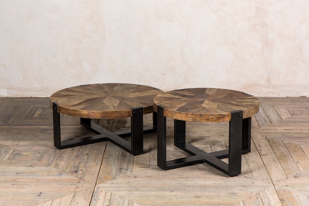 Round Wooden Coffee Table Peppermill Interiors
