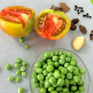 Matar ki Tehri - ingredients