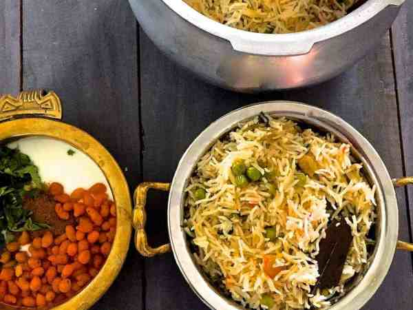 Matar ki Tehri - A fragrant rice dish from Eastern Uttar Pradesh in India, made with seasonal Green peas cooked with Basmati rice in Desi Ghee and subtly spiced