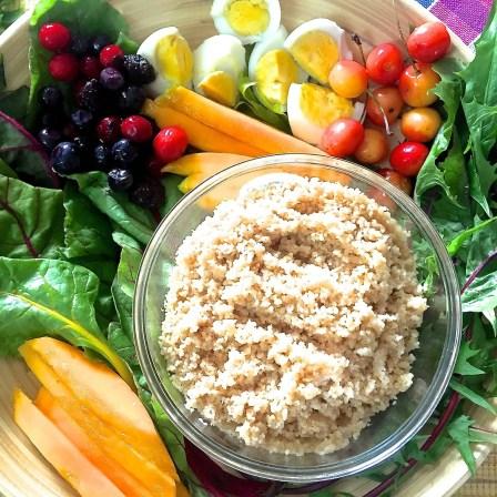 Dandelion Greens Mango Couscous Salad