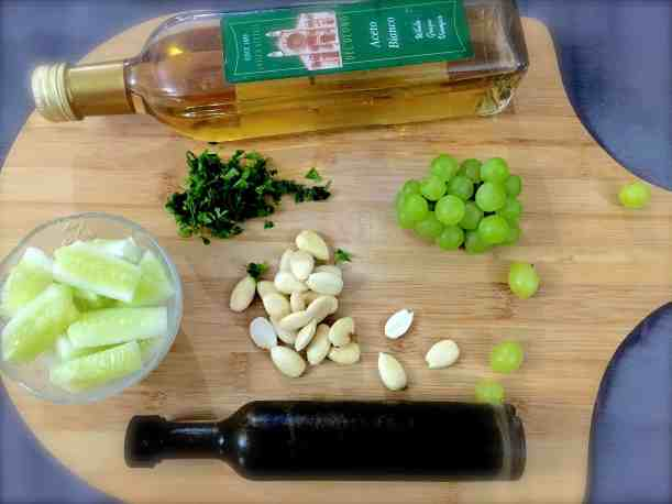 White Grape and Almond Gazpacho Ingredients